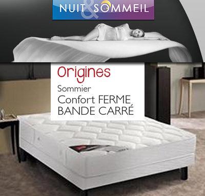 SOMMIER CONFORT BANDE CARRÉ