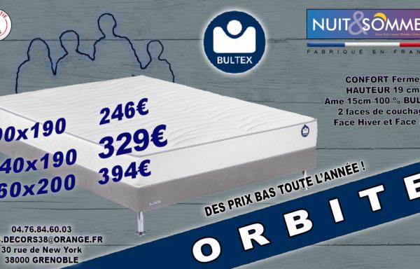 Matelas Bultex Orbite 240€_380€